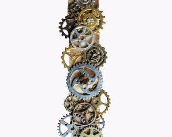 Steampunk Wedding Sash Embroidered Bridal Belt