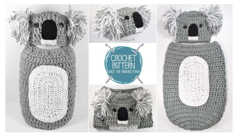 CROCHET PATTERN Koala Newborn Hat & Cocoon Pattern UK   Etsy