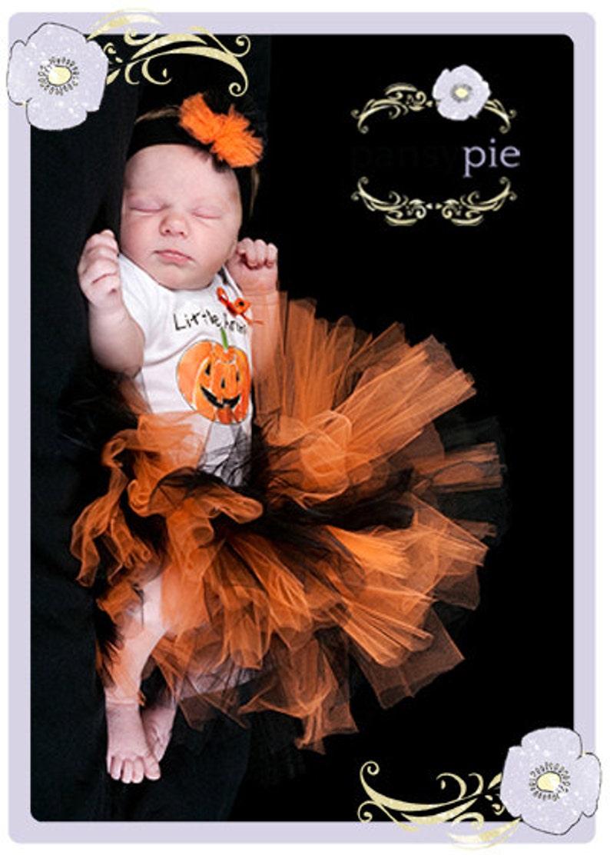 Newborn Halloween Costume Little Pumpkin Baby Girl Halloween Costume Baby Pumpkin Costume Halloween Tutu Halloween Onesie First Halloween
