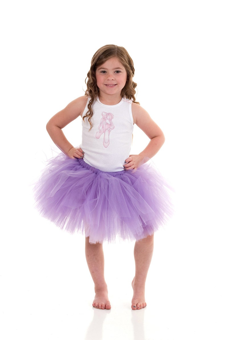 17a272fb5 Purple Tulle Skirt Set. Purple Tutu Outfit for Toddlers 2T 3T