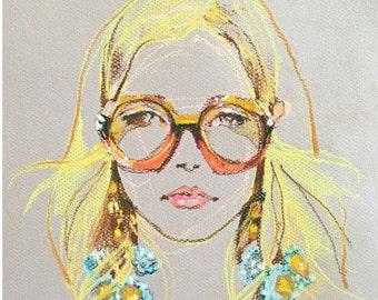 "Gucci Glasses Girl - 8"" x 10"" Print"