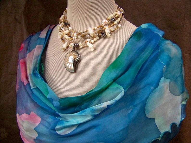 Nautilus Shell Necklace  Unique Mermaid Jewelry  OOAK image 0