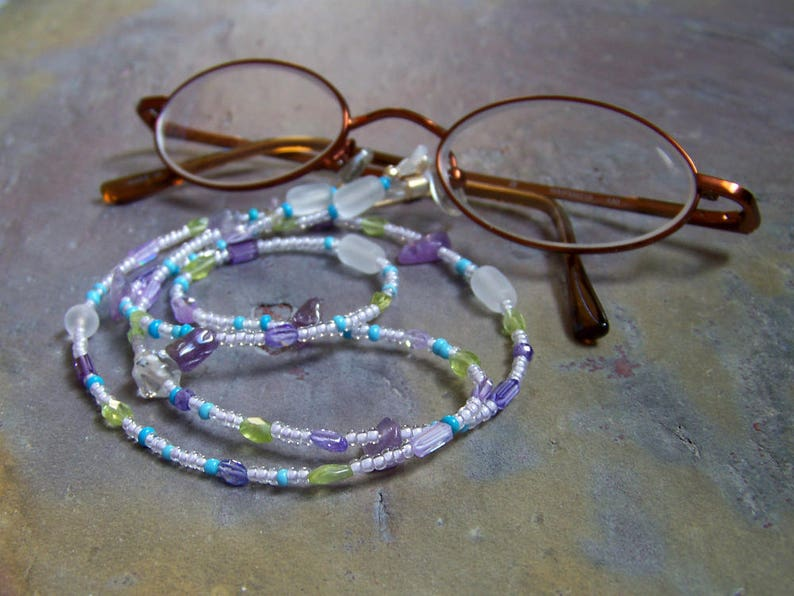Chain for Glasses  Eye Glasses Chain Accessory  Purple and image 0