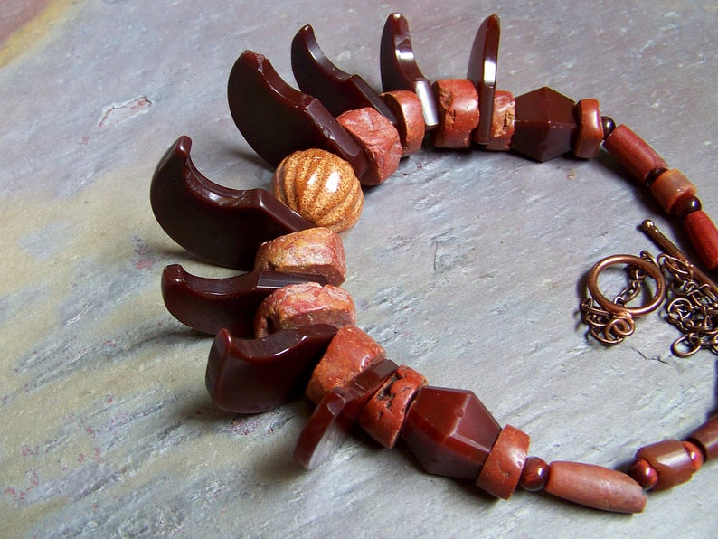 Tribal Claw Necklace  Mens Claw Choker  Antique Idar image 0