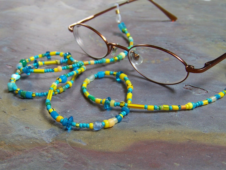 Reading Glasses Necklace  Bead Eyeglasses Keeper Chain In image 0
