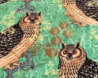 Bohemian Hoot Owl - Susan Winget - Owl Print Quilting Fabric - Cotton Quilting Fabric BHY