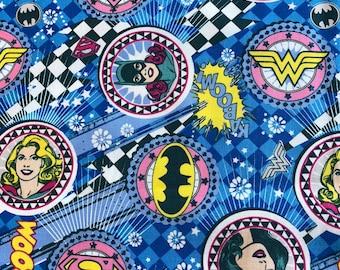Camelot Fabric Girl Power II Comics Ruby HALF METRE