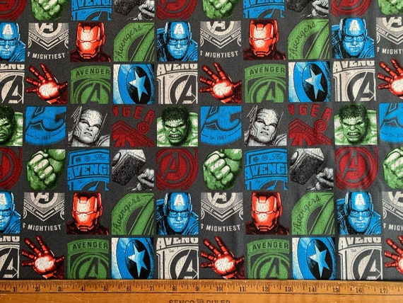 Marvel Comics Price /& Hero Stripe White Camelot 100/% cotton Fabric by the yard
