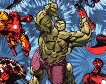 Marvel Comic Fabric - Avengers United - Spring Creative - Fabric by the yard