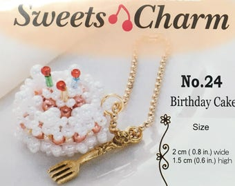 Cute Birthday Cake Carm Bead Kit by Miyuki