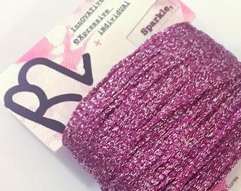 Pink Metallic Sparkle Yarn - Rowan R2 - Lurex Ribbon Yarn for Knitting, Crochet and other Crafts