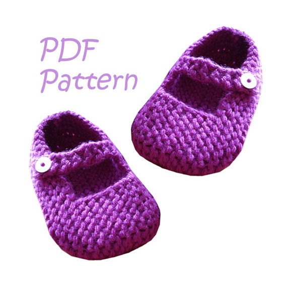 Knitting Pattern For Mary Jane Baby Shoes 12 18 Months Pdf Etsy