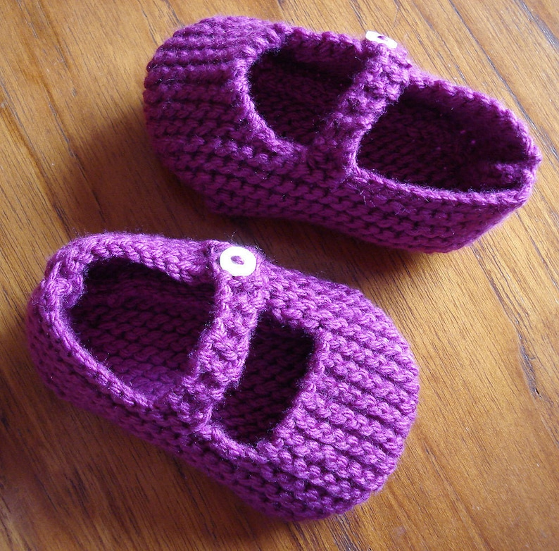 Knitting Pattern for Mary Jane Baby Shoes 12-18 months PDF ...
