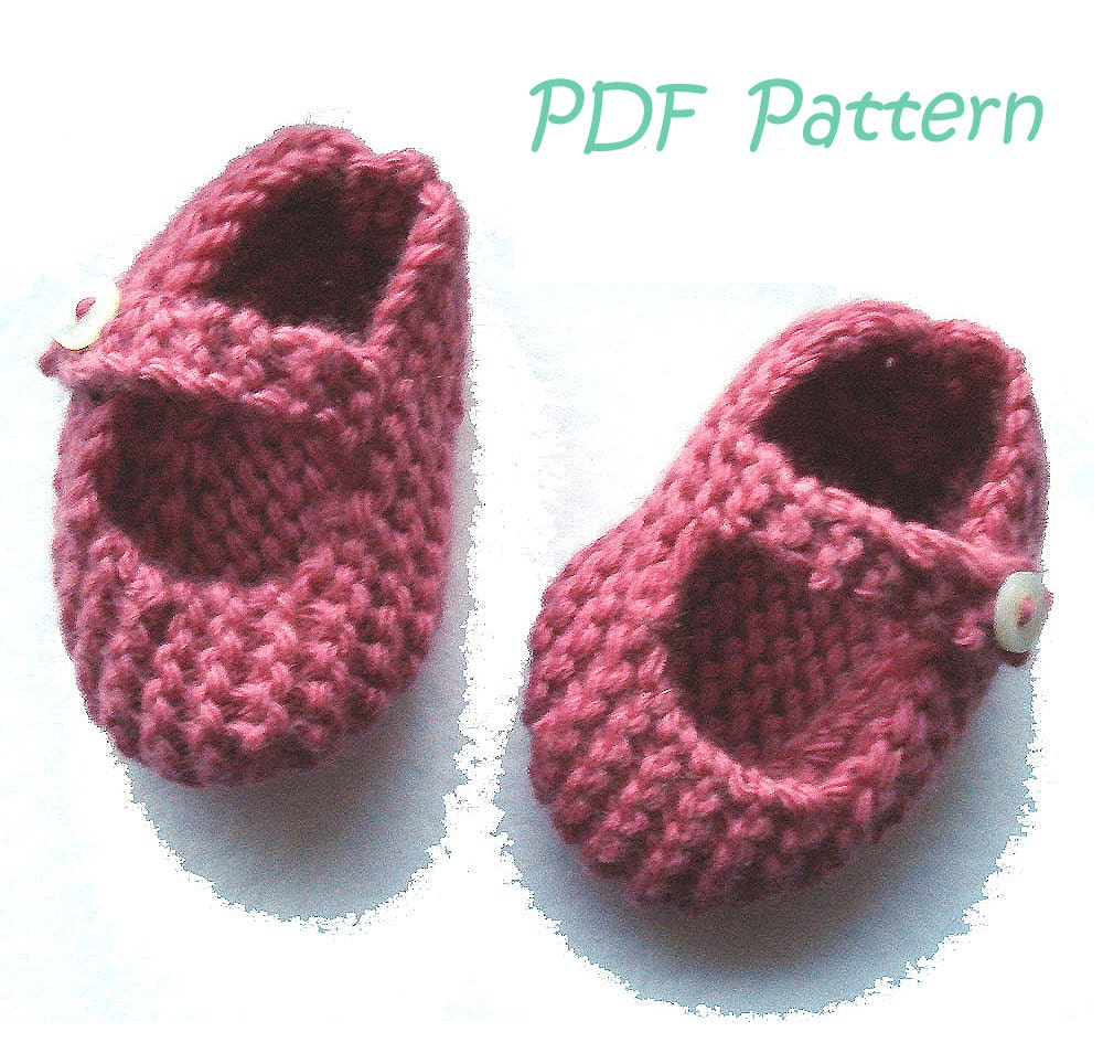 Knitting Pattern For Mary Jane Baby Shoes 0 3 Months Pdf