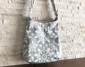 2way One Handle Hobo Bag - Snowflake Snow