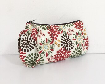 Pleated Wristlet Zipper Pouch // Clutch - Kennedy Floral