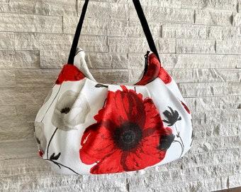 Pleated Bag // Shoulder Purse - France Poppyly Rouge