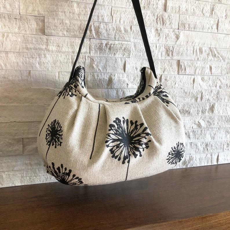Pleated Bag // Shoulder Purse  Dandelion Black Denton image 1