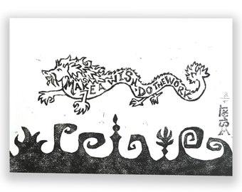 Dragon Print (Make a Wish, Do the Work)