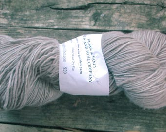 "Plain & Fancy Hand Dyed Yarn ""Tan' Colorway.  Soft, fine wool.  Created inTexas."