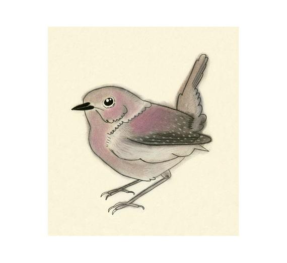 Vogel Vorlagen Drucken Nancy Wren 4 X 6 Rosa Etsy