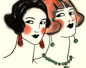 3 for 2 SALE - Ruby and Jade -  8 X 12 print