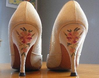 e658123c90d4 Floral high heels