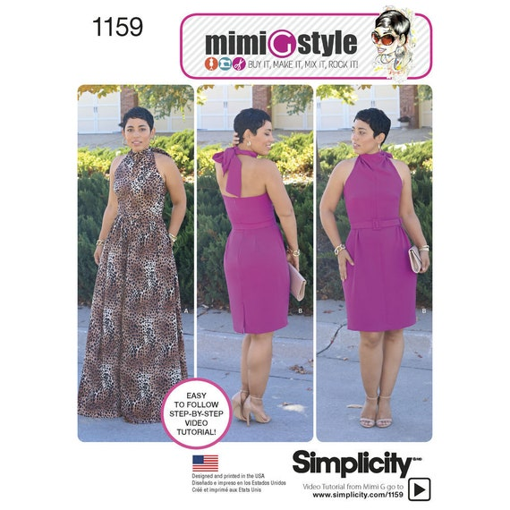 Halter Backless Dress With Belt New Sewing Pattern For Women Etsy