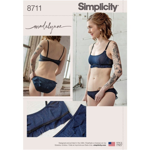 Monowire Bralette and panties set New Sewing Pattern for Women  7c66437cd