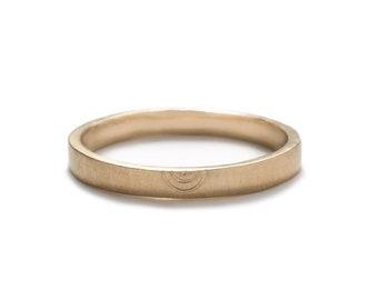 Amandi Unisex Wedding Band - 14k Gold