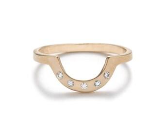 Cor Ring - White Diamond - 14k Gold