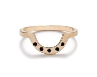 Cor Ring - Black Diamond - 14k Gold