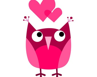 Valentine Printables // Owls // Printable Stationery Set with Envelope and Stickers