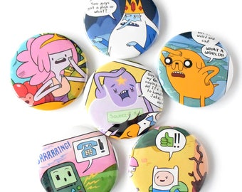 Adventure Time Comic Book Magnets Set of 6