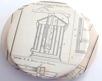 Vintage Invention Diagram Coasters // Recycled Vintage Book
