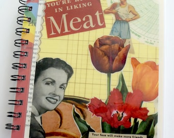 Meat Collage Art Notebook & Journal