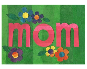 Mother's Day Card // Collage Art