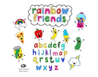 Digital Stickers // Rainbow Friends // GoodNotes Stickers & Clip Art