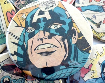 Captain America // Recycled Vintage Comic Book