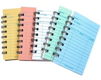 Library Card Notebooks set of 5