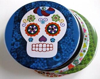 Day of the Dead // Dia de los Muertos Coasters // Sugar Skull