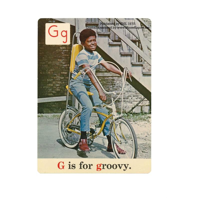Back to School Alphabet // ABC Postcards // 1970s Reproduction image 0