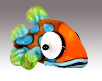 Aardvark's CARL THe Spotted Shovelnose Fish Bead