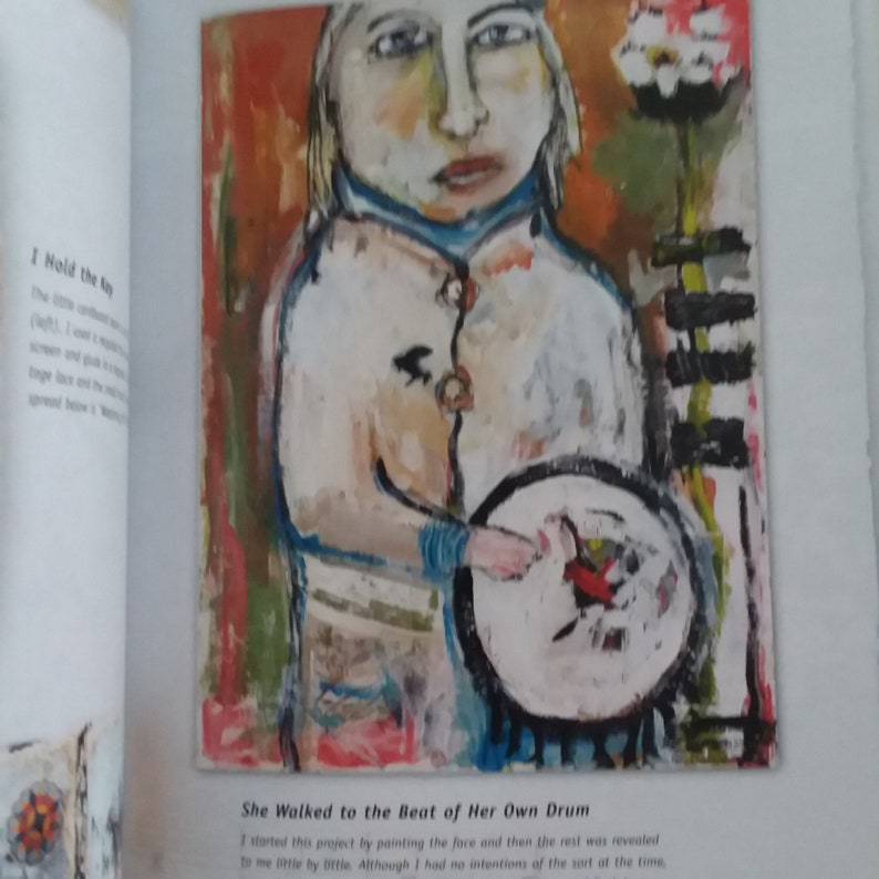 Doll Art Layered Impressions Katie Kendrick Layering Journal Making Ideas Collage Found Art Mixed Media Painting Book