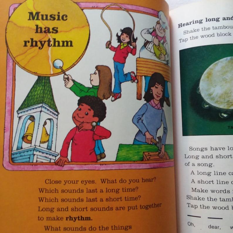 Vintage Children's Music Book - 1980s - Vintage Elementary Textbook - Old  School - Retro Kids