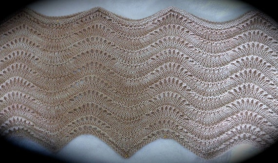 Pdf Sand Dunes Easy Knitted Stole Pattern Aka Summer Sands Etsy