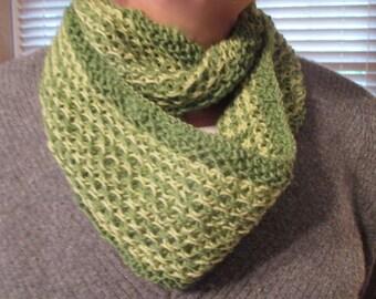Hand-Knit Peridot Infinity Scarf