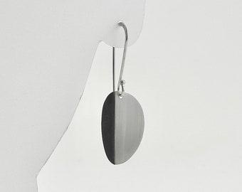 Sterling Oval Fold Earrings - E3030