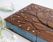 Blank journal Diary Tree Upcycled wood Blank notebook