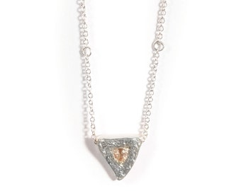 Heart of a Goddess Necklace   Silver and Sunstone Necklace